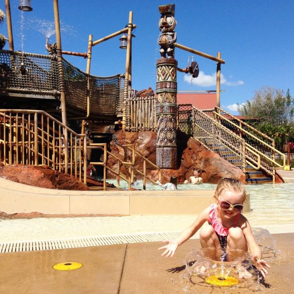 kid's splash area