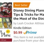 Disney Dining Plans 2018 eBook Only $0.99 (It's A Bestseller!)