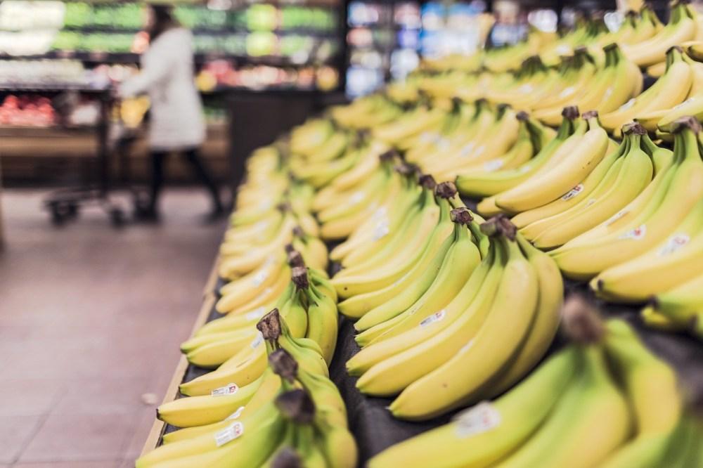 bananas at the supermarket
