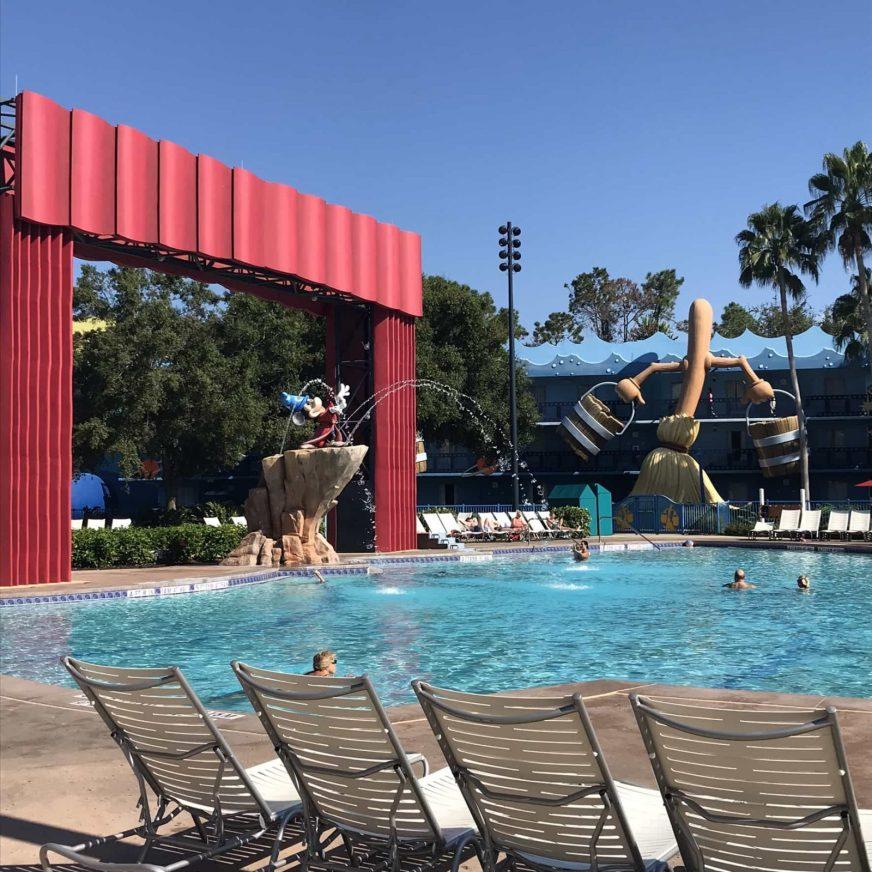 Pool at Disney's All-Star Movies resort