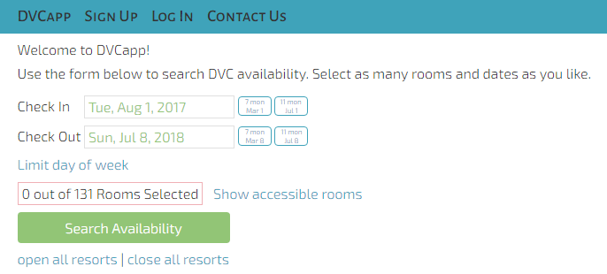 DVC App availability