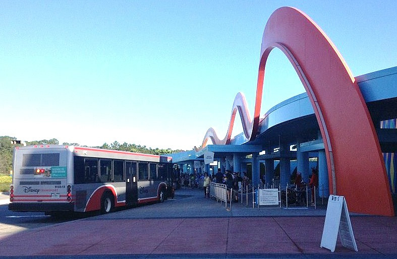 bus stop at Art of Animation resort