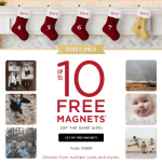 Shutterfly: 10 FREE Photo Magnets Today Only! (Great Stocking Stuffer Idea)