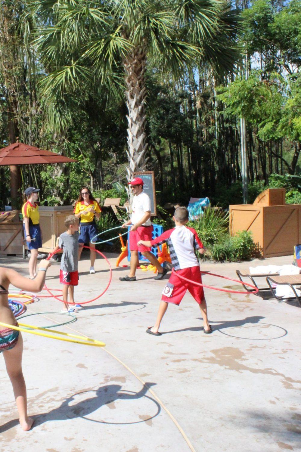 hula hoop activity