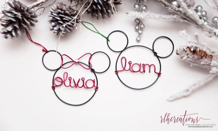 personalized Mickey Mouse ornaments