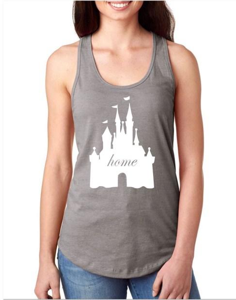 Disney castle home tank top