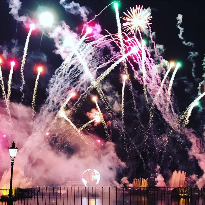 Illuminations holiday ending at Epcot