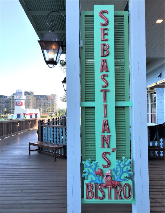 caribbean beach resort restaurants - sebastian's bistro sign