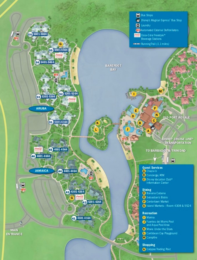 disney caribbean beach resort map 2019 with old port royale