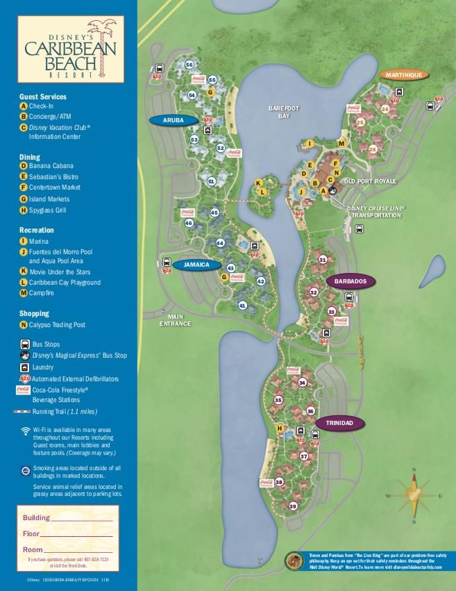 photograph regarding Printable Magic Kingdom Map identified as Disney Caribbean Seashore Vacation resort: Rooms, Swimming pools, Renovations