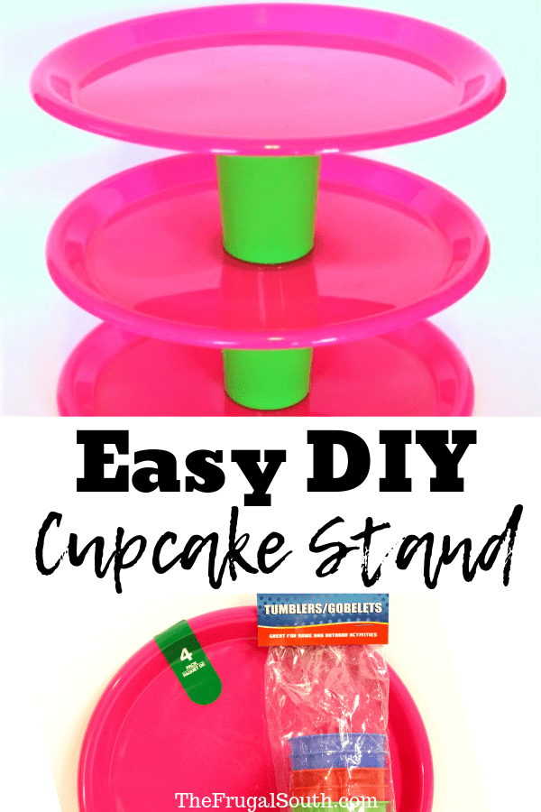 Easy Dollar Tree Cupcake Stand