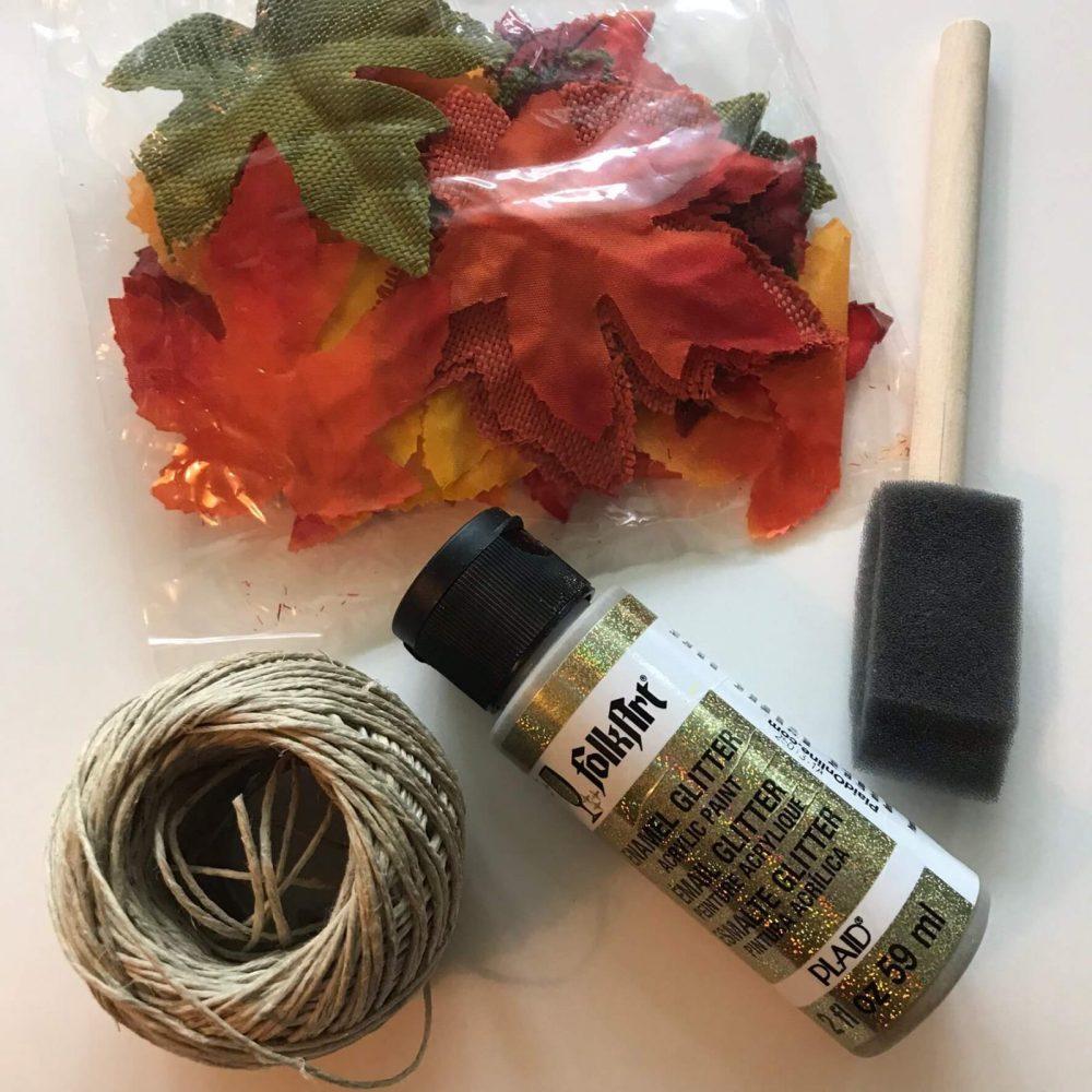 supplies to make a leaf garland
