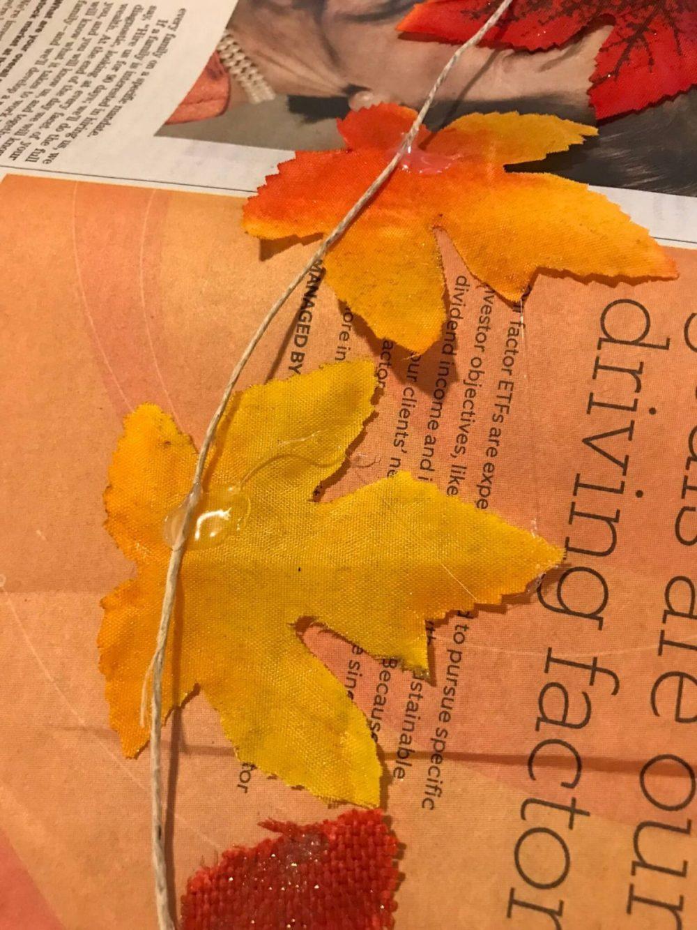 DIY Leaf Garland