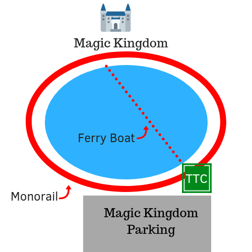 magic kingdom parking lot diagram