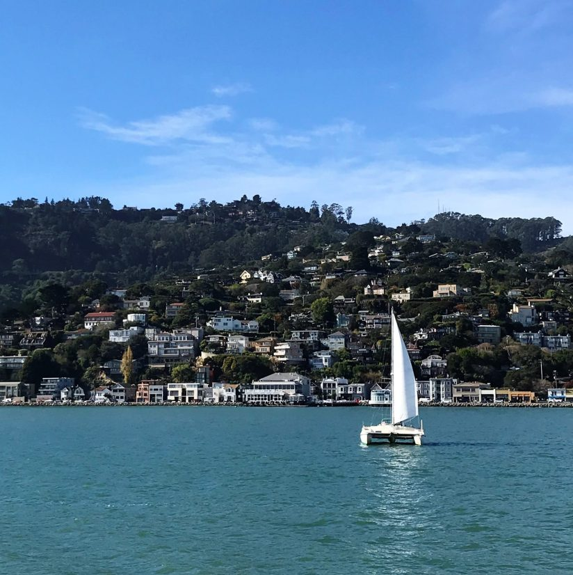 sausalito ca from the water