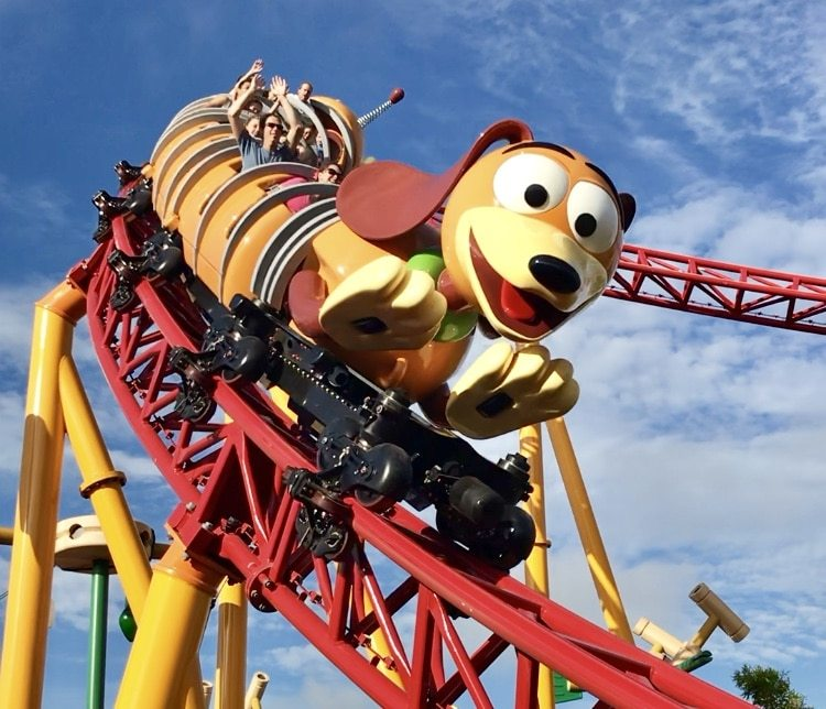 the slinky dog roller coaster ride in hollywood studios