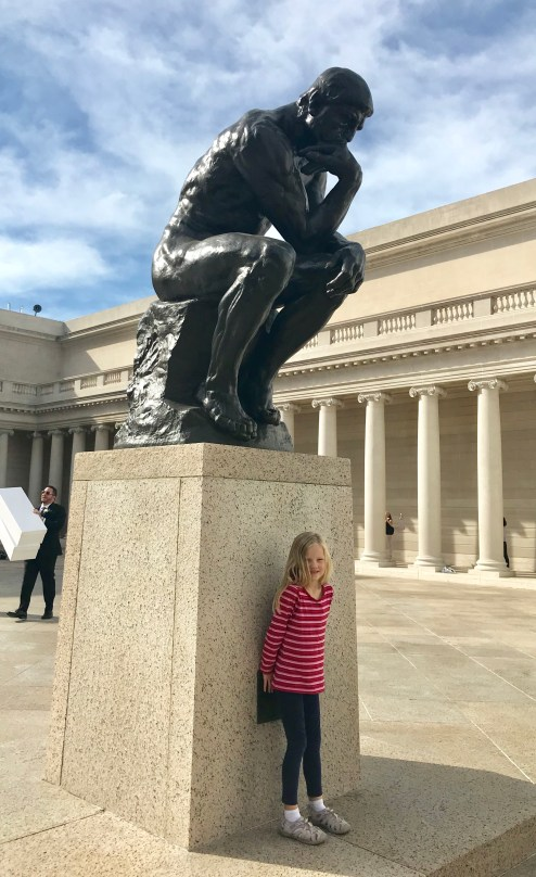 "Rodin's world-famous sculpture ""The Thinker"" at the Legion of Honor"