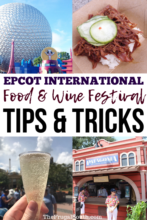 Get my top 9 Epcot Food & Wine Festival tips and tricks for 2019! How to avoid crowds, stay cool, save money and more. Get Disney World planning hacks for Epcot food and wine festival 2019 plus how to visit on a budget. #disneyworld #foodandwinefestival #epcotfoodandwine #disneyworld2019