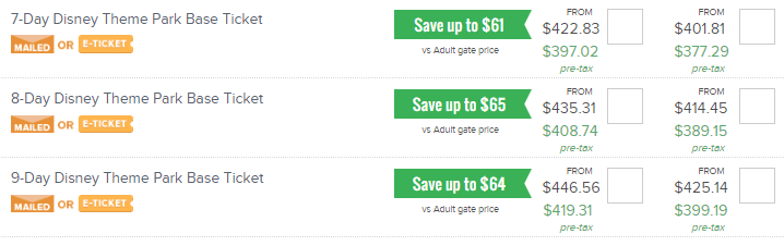 cheapest way to get disney tickets - undercover tourist 6 day ticket prices