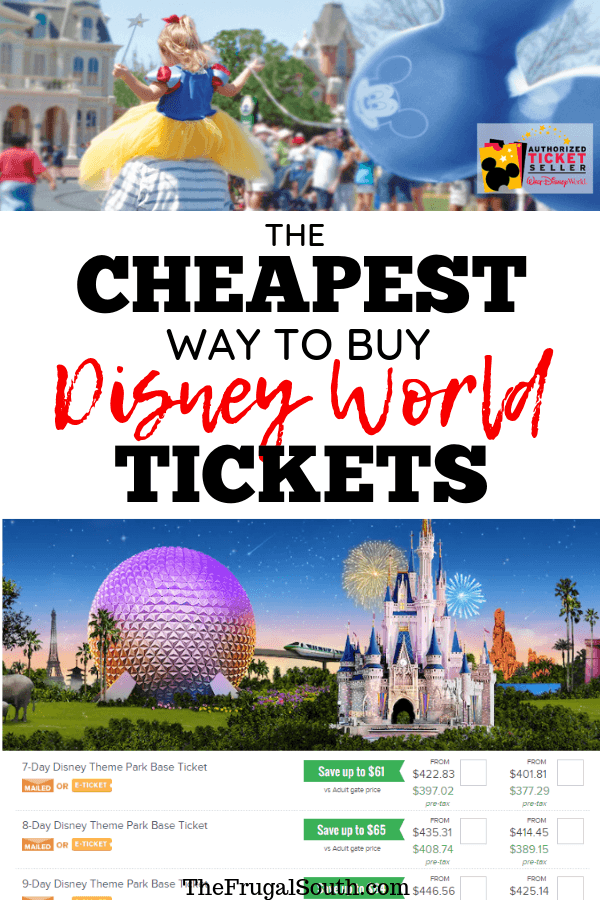 Learn the BEST way to get Disney tickets cheap! There are tricks to finding the way to buy Disney World tickets cheap. Get everything you need to know in this post about the cheapest way to get Disney tickets 2019. #disneytickets #disneyworldtickets