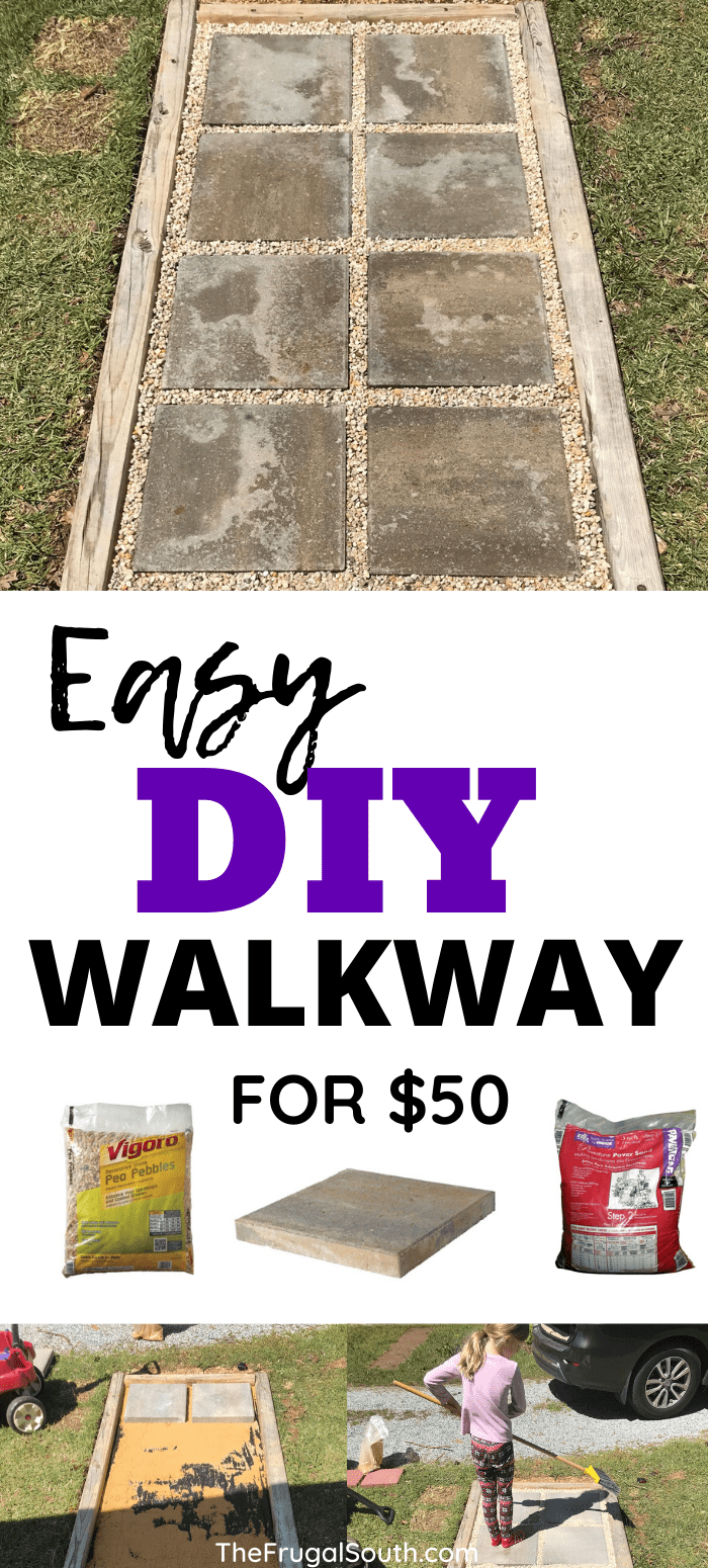 $50 Easy DIY Walkway Idea