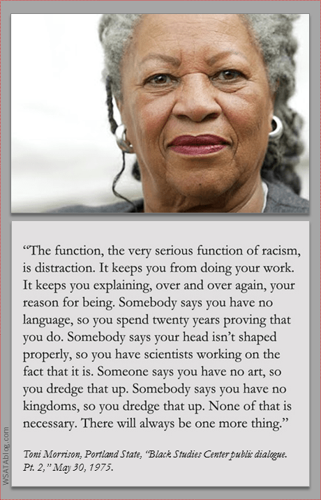 Toni Morrison Racism Distraction