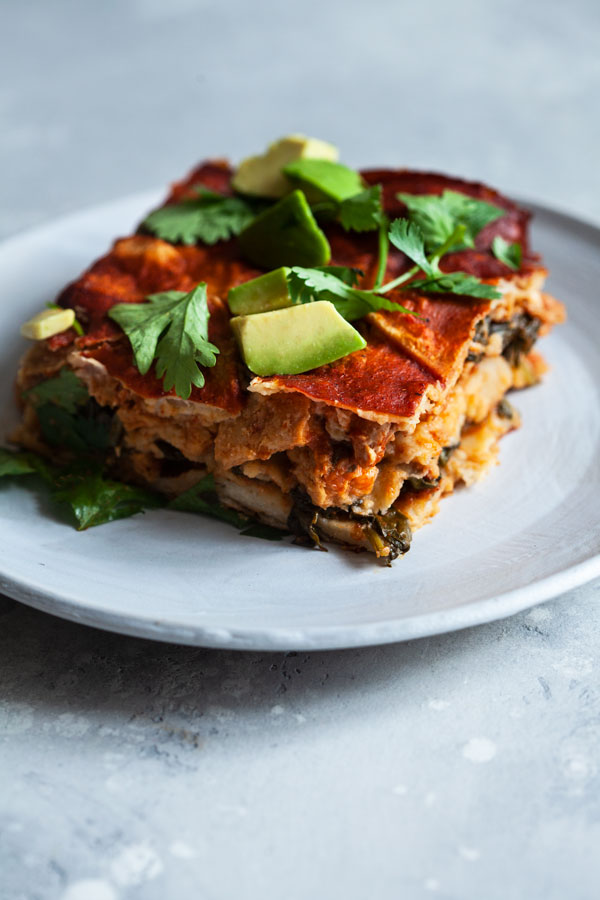Vegan Chick'n Enchilada Breakfast Casserole   The Full Helping