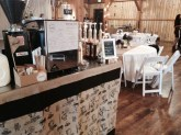 coffee cart at formal wedding venue - Cart Gallery Test - The Funky Brewster Coffee Catering