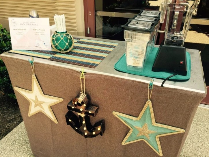 coffee cart nautical theme decor - coffee-cart-nautical-theme-decor - The Funky Brewster Coffee Catering