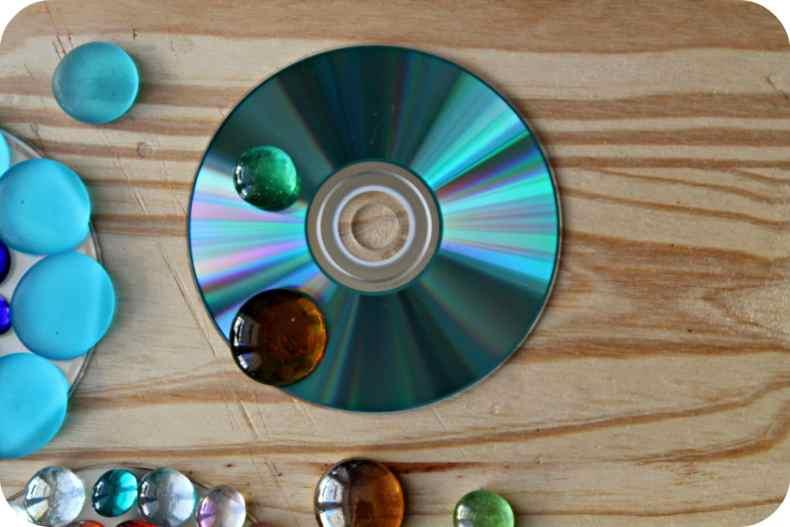 DIY Transformer vos CD en dessous de verre - The Funky Fresh Project