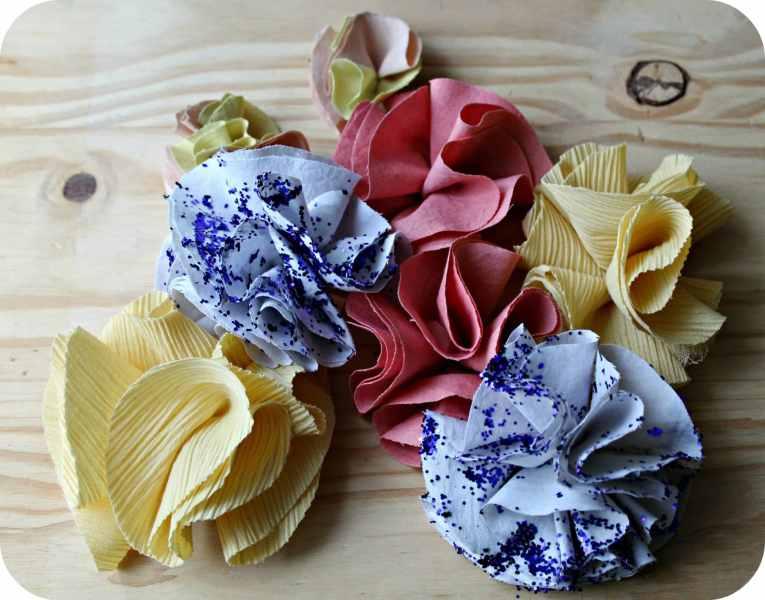 DIY - La couronne de fleurs en tissu de Frida