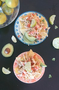 crock pot chicken carnitas nachos recipe
