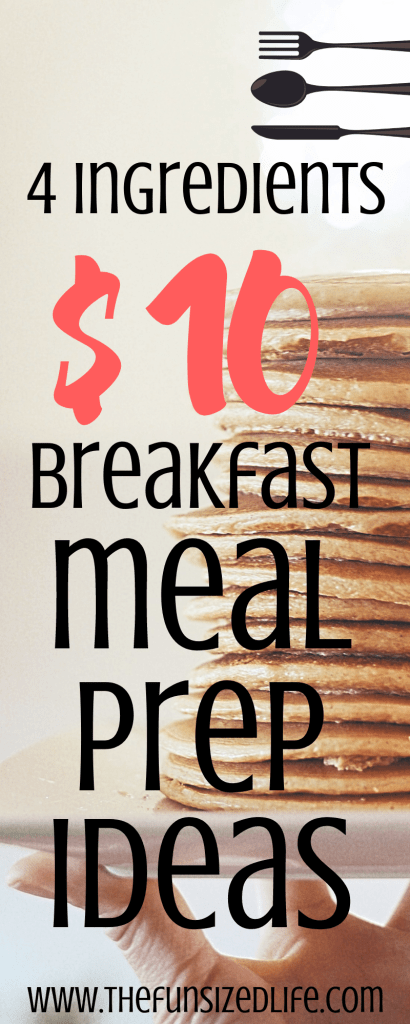 Use these breakfast meal prep ideas to stick to your food budget and feed your family well. These ideas are easy, affordable and so yummy! #mealprep #mealprepideas #breakfastmealprep