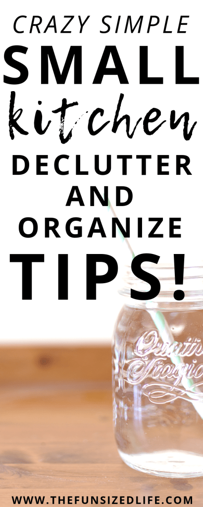 Use these declutter and storage solutions to start to a small kitchen declutter that sticks! It's way easier than you think!