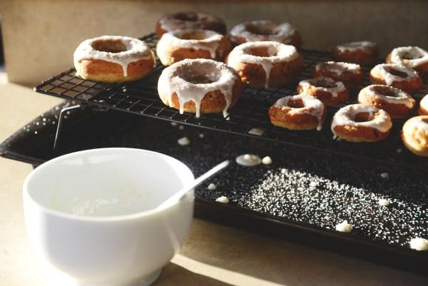 donuts, gluten free, dairy free, gluten free donuts, doughnuts, dairy free donuts, doughnut recipe, donut recipe, easy to make donuts, baked donuts, desserts, gluten free, Bob's Red Mill, Bob's Red Mill Gluten free flour