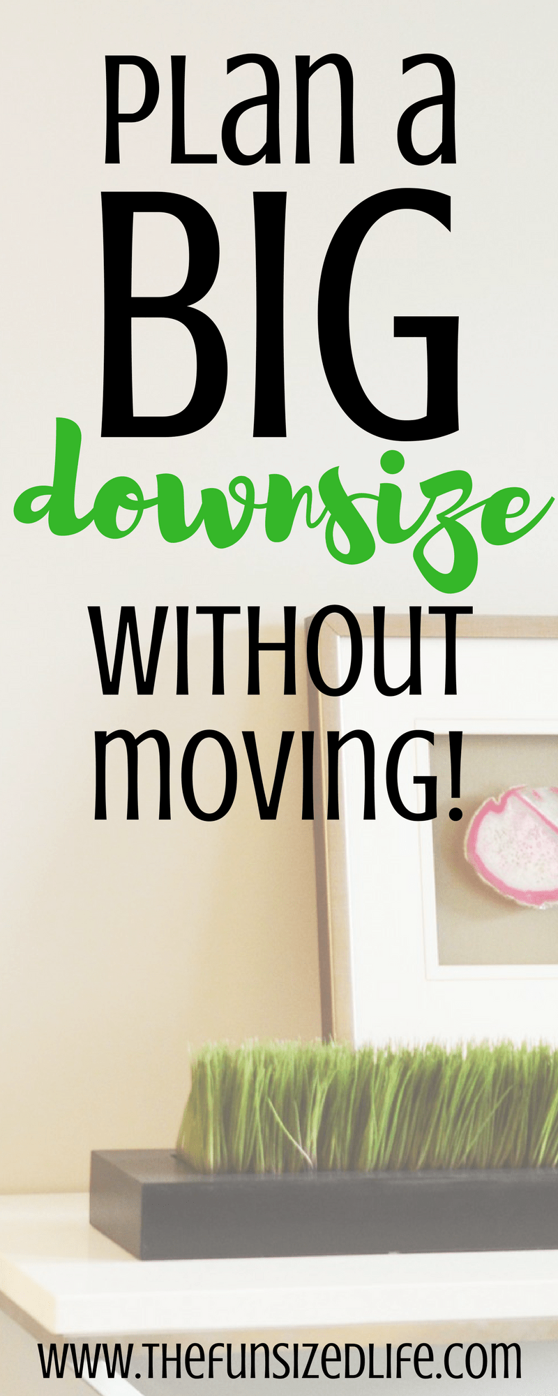 Did you know it's possible to change your life and your home without moving? You can downsize without moving using these 8 simple tips to get you started.