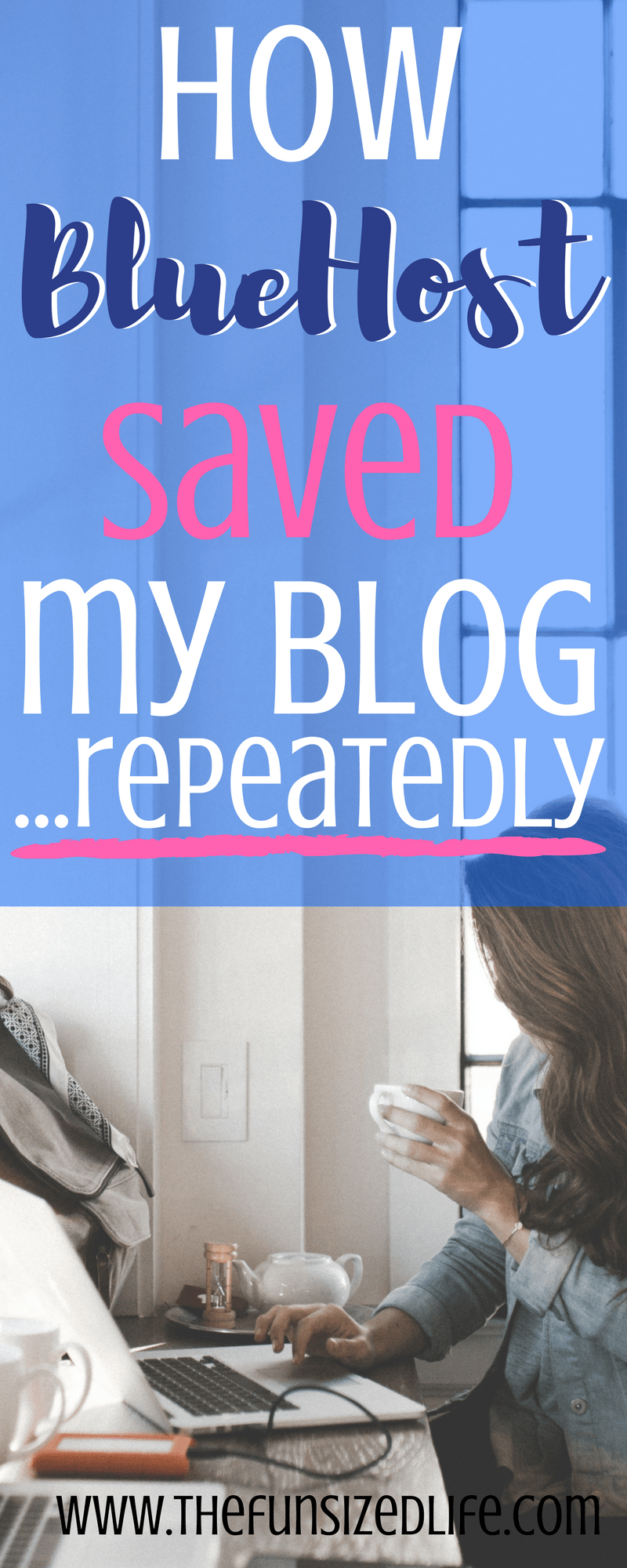 Seriously BlueHost has been a blogging lifesaver! From rebranding to so many blog issues, I'm so thankful for BlueHost. Here is a full review! #BlueHost #review #blogging #blog #Rebranding