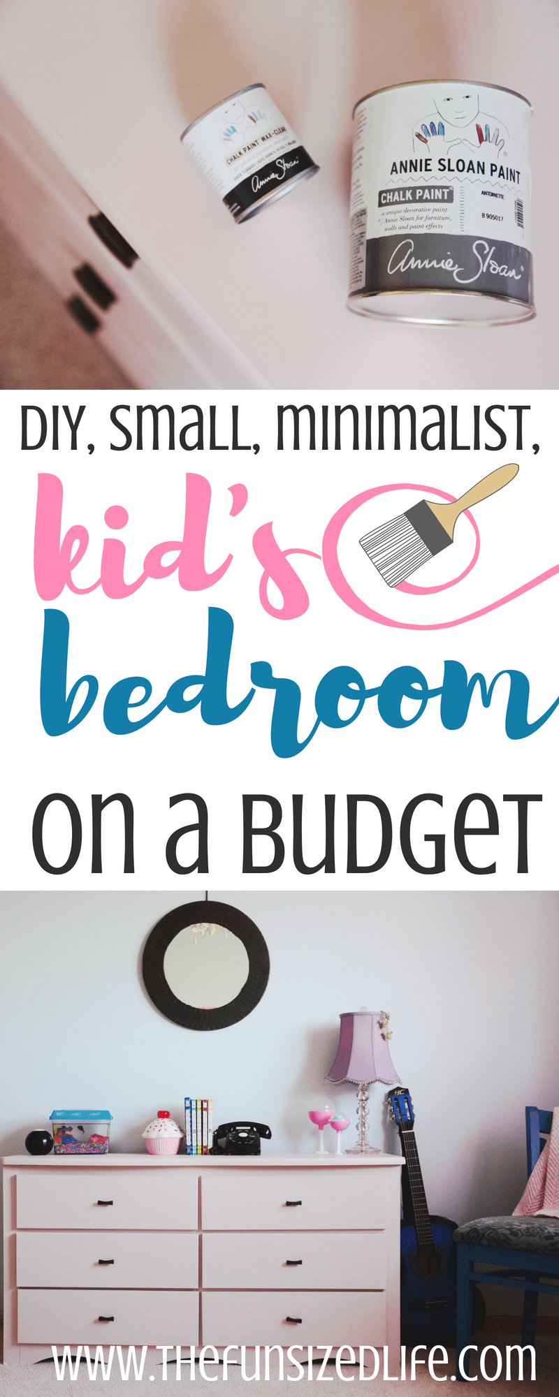 This gorgeous minimalist kid's bedroom is simple, cozy and perfect! #diy #minimalistkids #smallbedroom #bedroom #anniesloan #sponsored