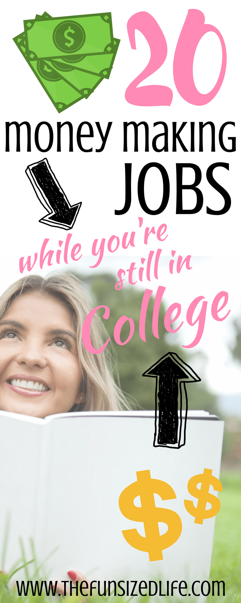 There are so many great college jobs I never even thought of! Making money while you earn your degree doesn't have to be that hard! #makemoney #earnmoney #extracash #degree #collegedegree #parttimejob #sidehustle