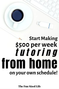 There is a great new online tutoring gig available. Set your own hours, teach from anywhere and earn some serious cash teaching what you love!