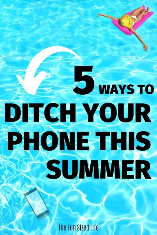 Summer is here and it's time to work on less phone time and more life. Here are 5 super simple tips to help you stop scrolling and start living.