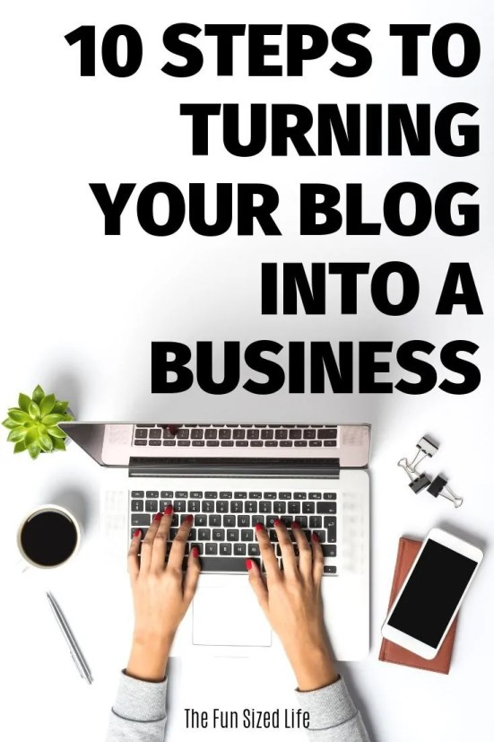 Whether it's a small business, MLM or no business at all, a blog can make you money and reach more clients. See 10 steps to turn your blog into a business. #blogging #blog #startablog #smallbusiness #entrepreneur