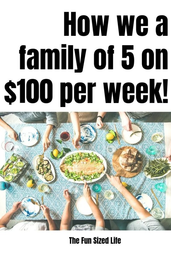 Need groceries for a family of 5 but are shopping on a budget? Here are 6 tips we swear by to spend only $100 per week on groceries and still eat healthy!