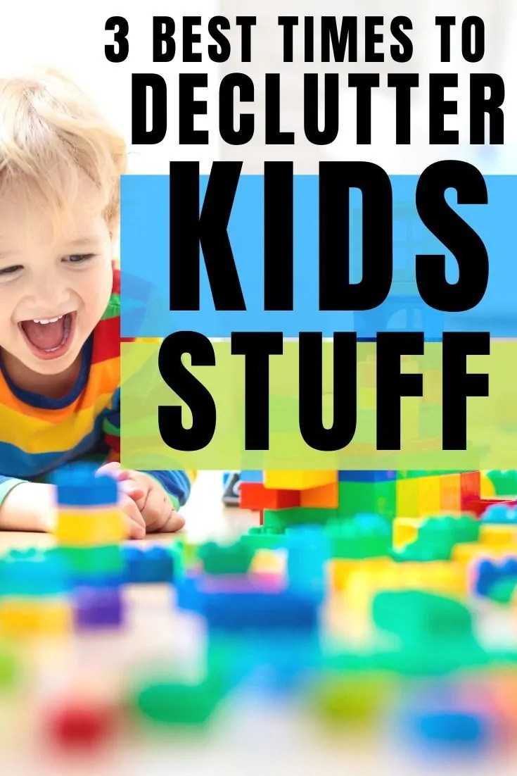 Keeping a minimalist home with kids can be tough. There are 3 times out of the year that help to declutter with kids and combat clutter for good.