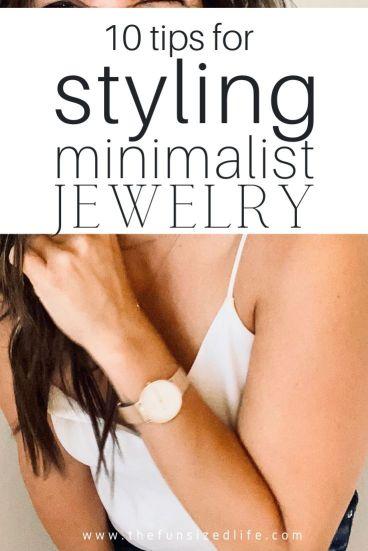 How to Style Minimalist jewelry