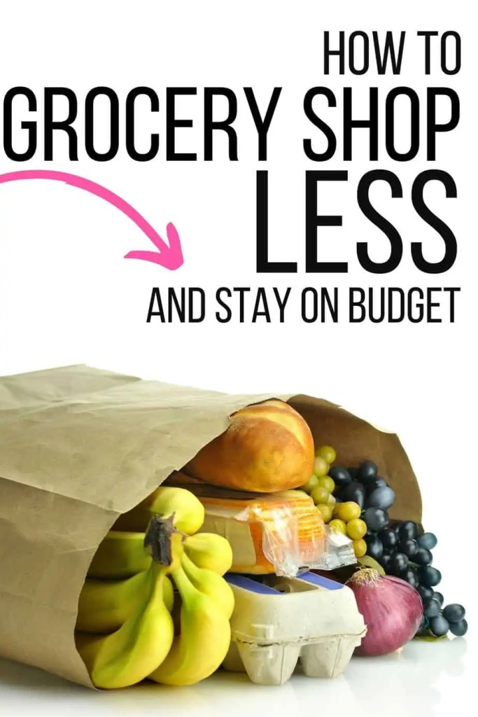 Check out our family's plan for grocery shopping less, saving money and still eating healthy even when our schedule is busy!