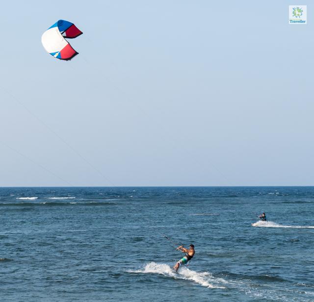 Kite surfing at Kingfisher.