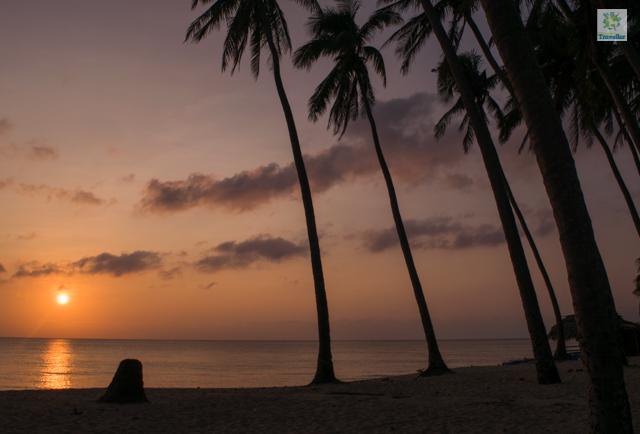 Sunset at Saud beach.