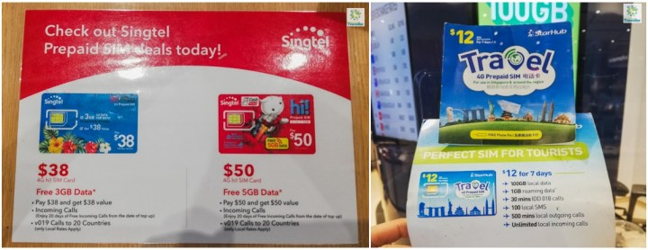 Singapore Local SIM cards.
