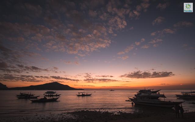 Sunset at Lango beach, Gigantes Norte.